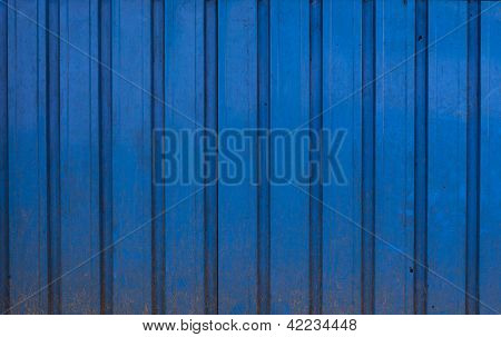 Real Blue, Metal, Dirty And Damaged Background