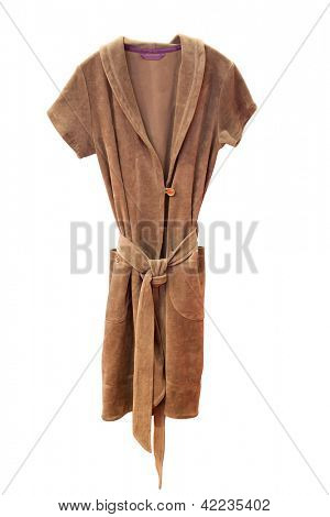 bathrobe under the white background