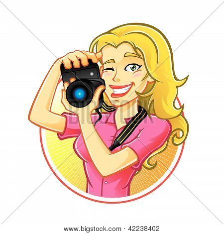 Fotógrafo de mujer