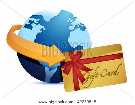 Globe Arrow And Giftcard
