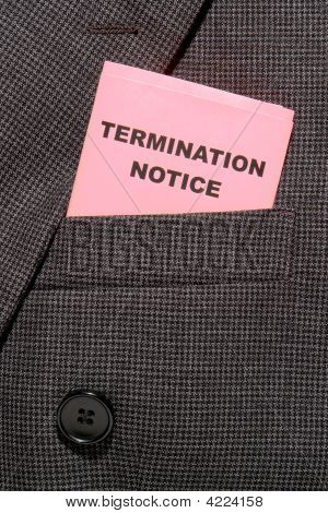 Executive Pink Slip Termination Notice