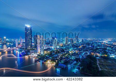 Paisaje urbano de Bangkok.