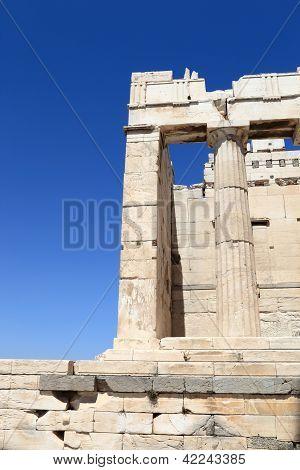 Detail Of Propylaea Of The Athenian Acropolis