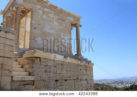Detail Of Temple Of Athena Nike