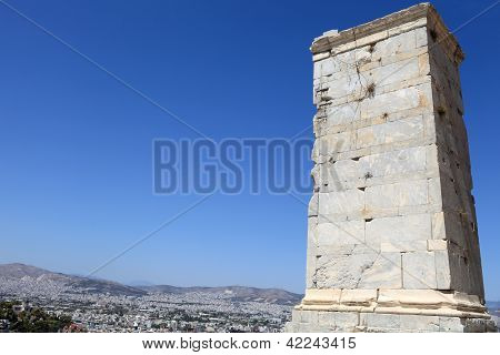 Fragment Of Agrippa Tower Of The Acropolis Propylaea