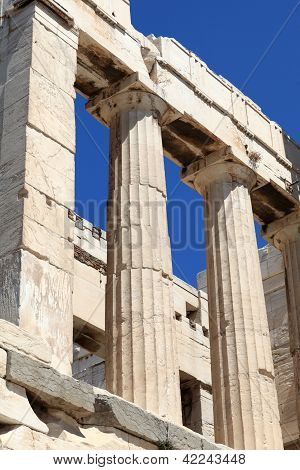 Part Of Propylaea Of The Athenian Acropolis