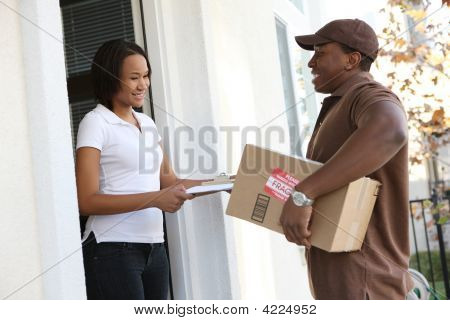 Man Devlivering Package