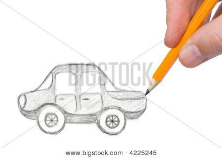 Hand Drawing Car