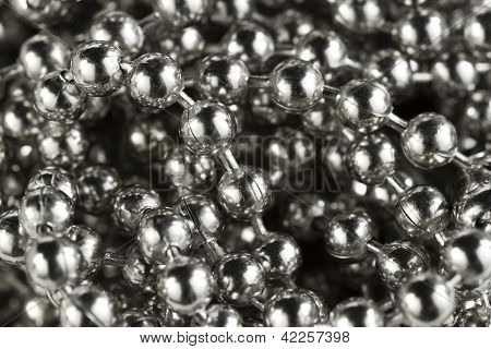 Macro Of Silver Colored Balls On Chain