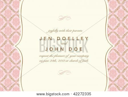 Vector Floral Pattern and Frame. Easy to edit. Perfect for invitations or announcements.
