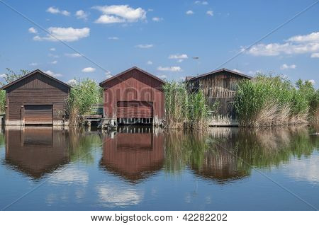 Fishing Huts at Lake Neusiedler See