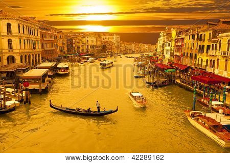 Puesta de sol de Venecia