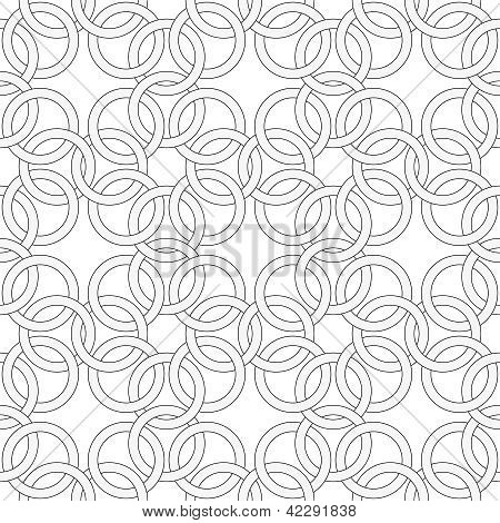 Vector Seamless Pattern - Pattern Like Weaving Chainmail