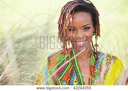 Smiling woman in nature