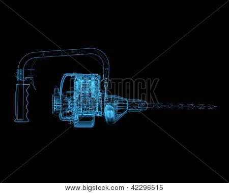 Heavy Duty Drill (3D Xray Blue Transparent)