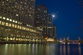 City Night River View poster