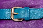 Blue Faux Leather Strap On Violet
