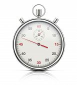 picture of chronometer  - Vector illustration of realistic stopwatch or chronometer watch isolated on white background - JPG