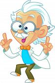 pic of wacky  - Vector Illustration of a Professor Mascot being Crazy and Dancing - JPG
