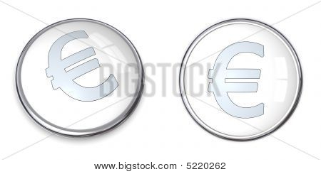 3D Button Euro Symbol
