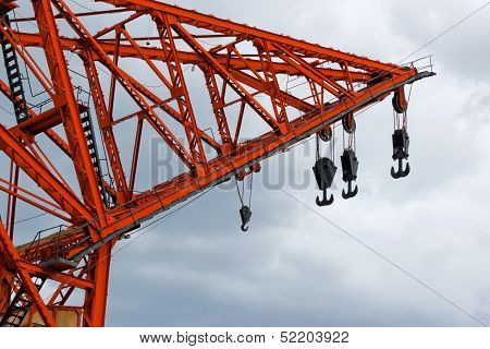 Old Harbor Crane, Valencia, Spain