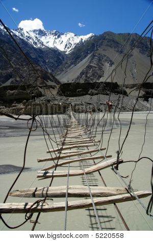 Bridge Over Hunza River