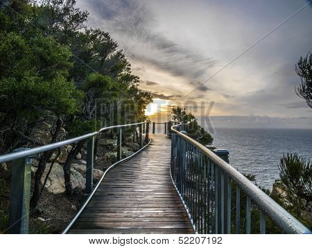 The Great Ocean Road near the Twelve Apostles, Victoria, Australia.