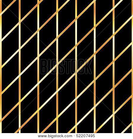 Golden metallic grid background