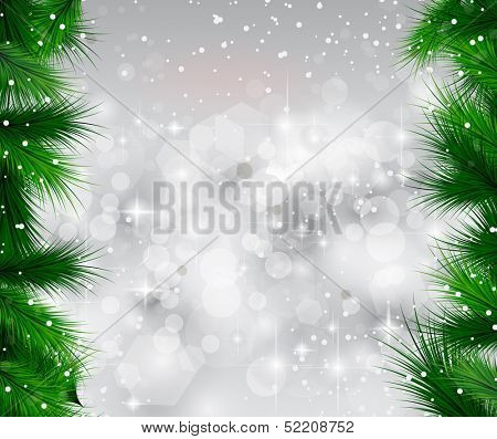 2014 Christmas Colorful Background with a waterfall of ray lights and a lot of baubles and stars.