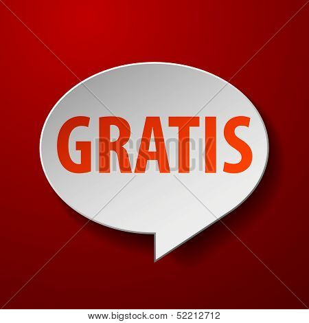 gratis 3d speech bubble