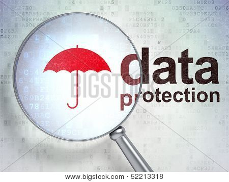 Protection concept: Umbrella and Data Protection with optical gl