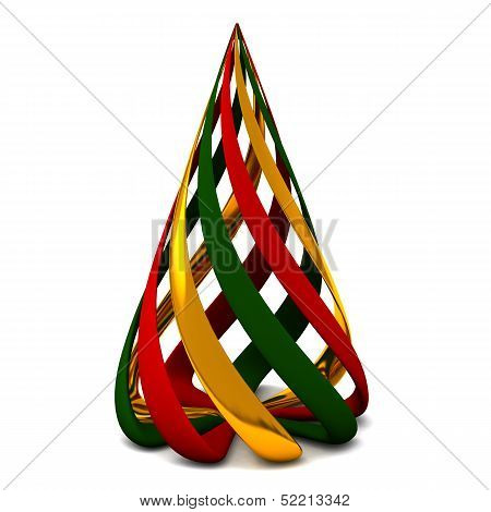 Stylized colorful Christmas tree 3d