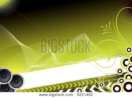 Green Abstract Party Design