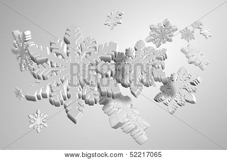White Snow Flakes