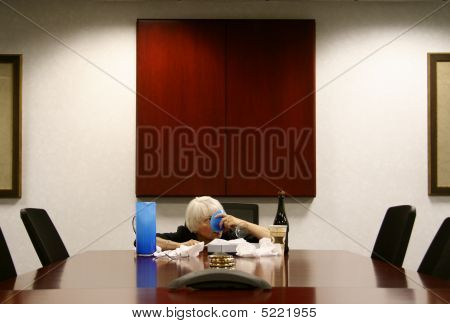 Drunk Woman In The Boardroom