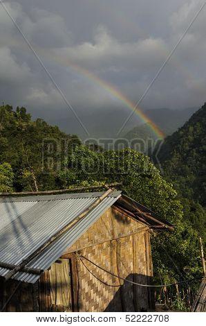 Rainbow On Cloudy Sky , Sikkim