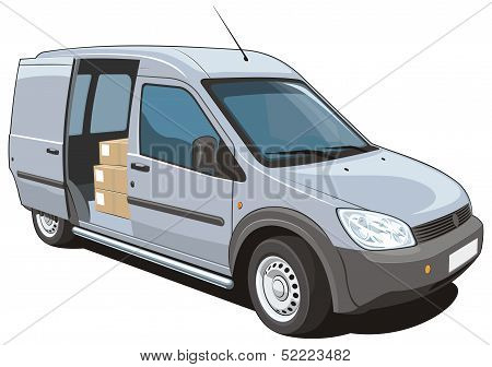 Commercial Van - My own car design.