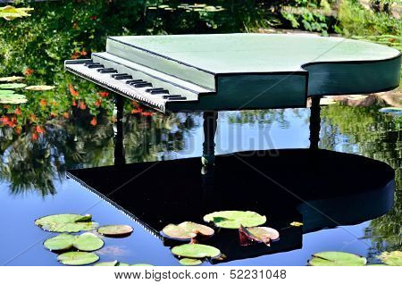 Piano on a pond