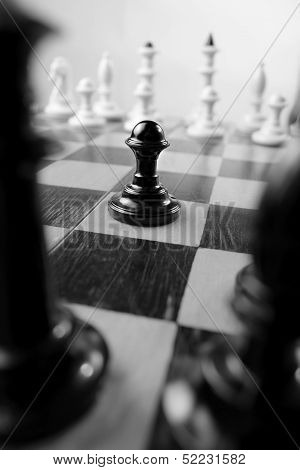 Pawn On A Chessboard
