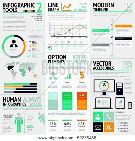Infographic elements big set vector EPS10