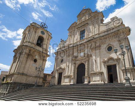 ancient baroque church in militello