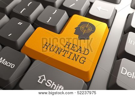 Keyboard with Headhunting Button.
