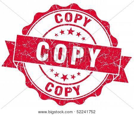 Copy Red Grunge Stamp
