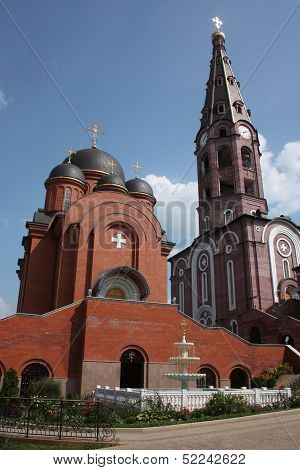 Bell Tower and the Church of the Intercession of the Holy Virgin in Holy Trinity Monastery