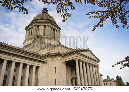 Capitol Legislative Building Stone Column Front Olympia Washington Panoramic