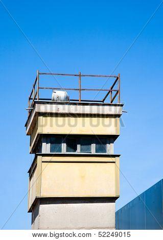Berlin wall watch tower