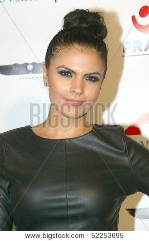 HOLLYWOOD -  Vassy Karagiorgos arrives at the 2013 Philhellenes Gala benefiting Praksis at the SkyBar on October 9, 2013 at the Mondrian Los Angeles, West Hollywood, CA.