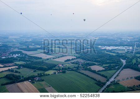 Hot Air Balloons Over Muenster