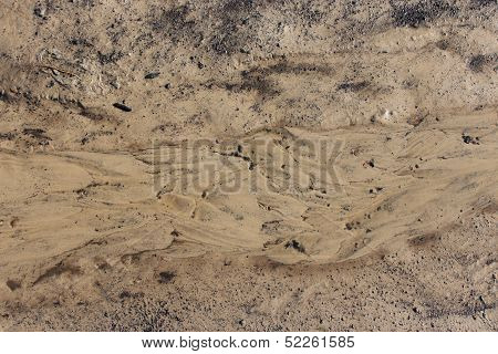 Layer of a dirt and mudflow