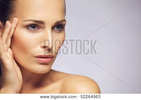 Beauty Woman Face With Healthy Skin poster